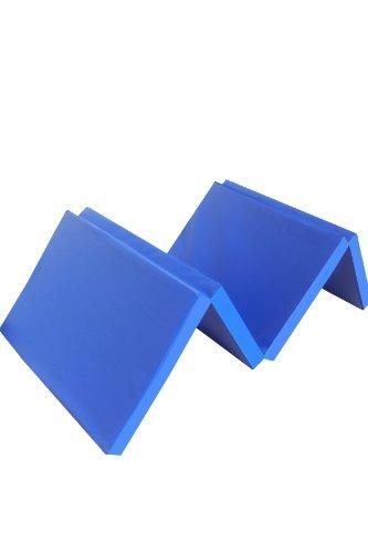 Niro Sportgeräte Turnmatte Weichbodenmatte Klappbar, Blau, 180 x 61 x 4.5 cm, TM8
