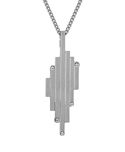 Charlotte valkeniers Argent Sterling la vertical Matrix Pendentif avec chaîne de 55cm