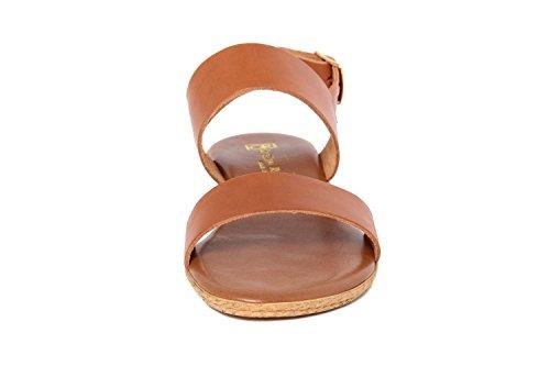 GAGLIANI RENZO - Sandalias de vestir de Piel Lisa para mujer marrón marrón