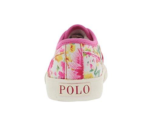 Polo Ralph Lauren Kids Vali Gore P Fashion Sneaker (Toddler/Little Kid), Pink Floral, 10 M US Toddler