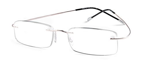 Specs Flexible Rimless Reading Glasses (Shiny Gold) ()