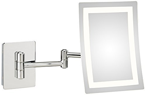 Mirror Image Single-Sided Rectangular LED Lighted Magnified Warm Make-up Mirror, ()