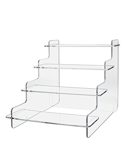 Marketing Holders Tiered Clear Acrylic Step Risers with 4 Platforms (Pack of - Platform Tiered