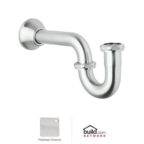 Decorative Bell Flange (Rohl RPT114APC Decorative P-Trap with Bell Flange, Polished Chrome)
