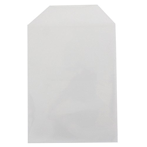 200 Clear CPP Plastic DVD Sleeves with Flap for 14mm DVD Box Awork & Disc 80 Micron - Dvd Movie Sleeves