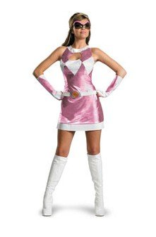 Mens Pink Power Ranger Costume (Pink Power Ranger Adult Costume - Small)