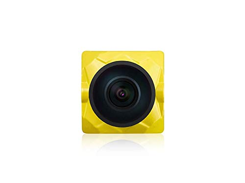 Caddx Ratel Newest FPV Camera 1/1.8'' Starlight HDR OSD 1200TVL 16:9 NTSC 1.66mm Lens for FPV Quadcopter Racing Drone (Yellow)