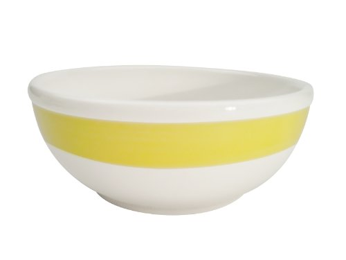 (CAC China R-18-YELLOW Rainbow 5-7/8-Inch Yellow Stoneware Nappie, 15-Ounce, Box of 36 )