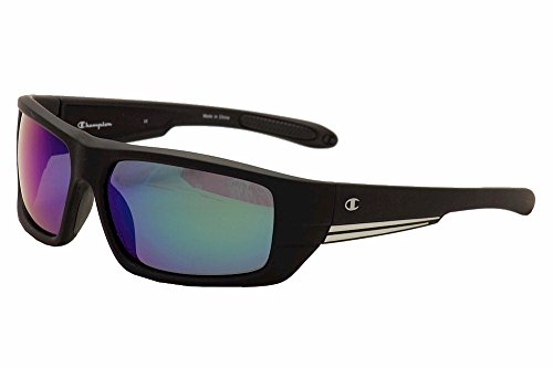 Champion Men's Black polycarbonate Rectangular - Sunglass Champion
