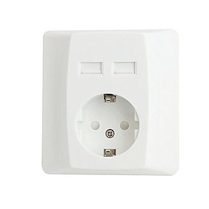 eDealMax 5VDC 2.4A Cargador CA 100V-240V UE Socket 2 USB interruptor de carga