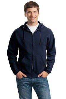 (Jerzees 8 oz, 50/50 NuBlend Fleece Full-Zip Hood, Small, J Navy)