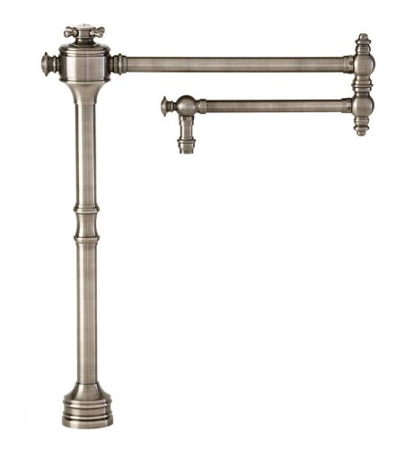 Waterstone 3350-AC Towson with Single Cross Handle Pot Filler Faucet, Antique ()
