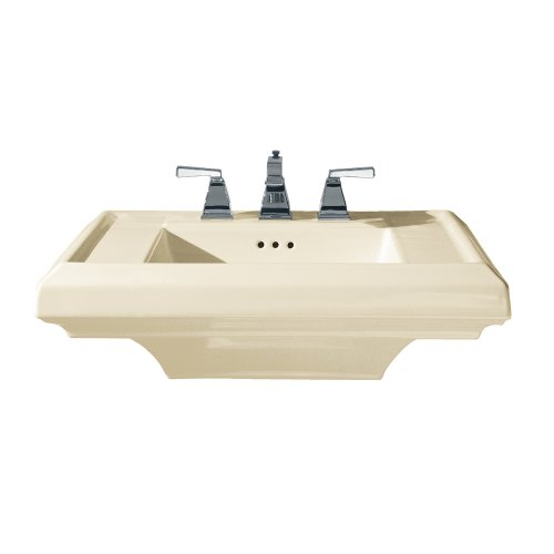 American Standard 0780.008.222 Town Square 27-Inch Pedestal Sink Top with 8-Inch Faucet Spacing, - 27 Pedestal Lavatory