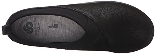 Mocassino Sillian Greer Slip-On da donna di Clarks, Nubuck sintetico nero, 6,5 M US