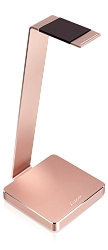LUXA2 E-One Rose Gold Solid-Metal Aluminum Universal Gaming Headphone Stand/Hanger/Holder for Headsets Display HO-HDP-ALE1RG-00