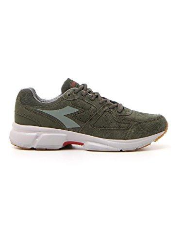 Schuh Herren DIADORA 17205654806901Shape 8S Sneakers Grau Grün Running Joggen Fitnessstudio