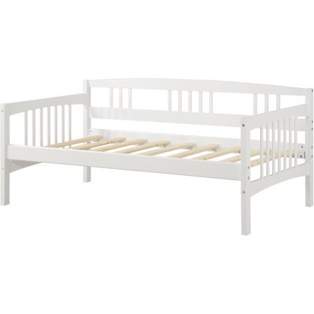 Solid Wood Frame Twin Daybed Assembled: 77-1/4''W x 42-1/4''D x 34''H, White by Dorel Living