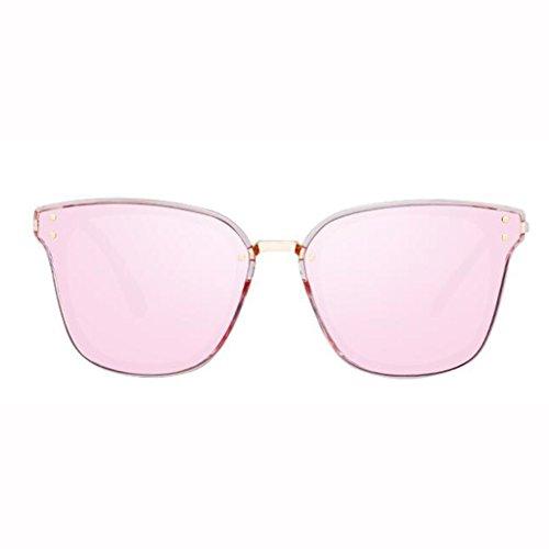 Star Gafas polarizadas negras Gafas UV Deportes al nuevas colores Gafas aire de opcional 5 Gafas de sol de UV400 sol sol para femeninas Gafas sol sol Frame; Transparent Protección Pink Regalo de A de excursionistas libre retro T1xwUqTr