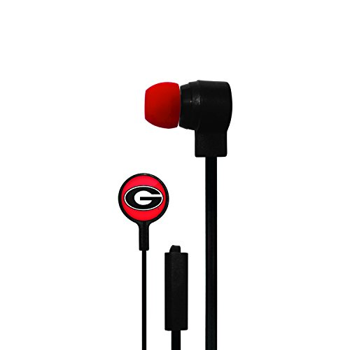 Georgia Bulldogs Headphone (MIZCO SPORTS STEREO EARBUDS WITH MIC FOR NCAA GEORGIA)