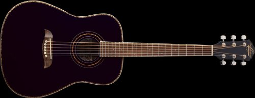 Oscar Schmidt OGHSB 1/2 Size Dreadnought Acoustic Guitar (High Gloss Black)