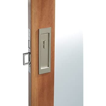 priv santa monica privacy pocket door set with door pull from the