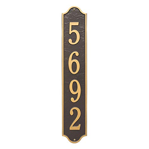 Personalized Admiral Vertical Estate Wall Plaque (Bronze/Gold)