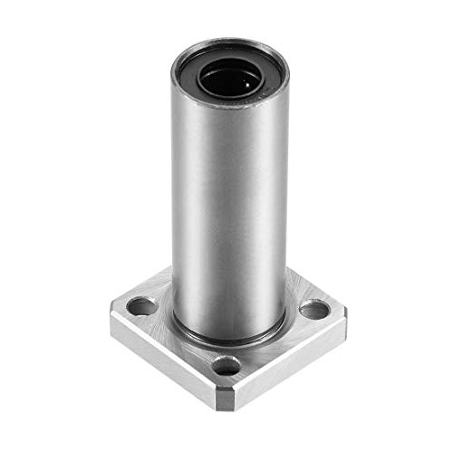 uxcell LMK10UU Extra Long Square Flange Linear Ball Bearings, 10mm Bore Dia, 19mm OD, 55mm Length