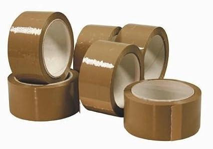 palucart® 6rouleaux ruban adhésif 48x 66pour emballage couleur Havane Palucart®