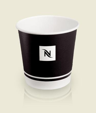 Nespresso Espresso Disposable Paper Cups, 175ml, 6oz – 55 count