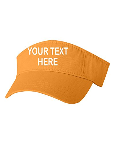 Adjustable Gold Adult Customized Add Your Own Text Embroidered Visor Dad Hat]()