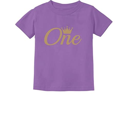Baby Girl Boy 1st Birthday Gift One Year Old Crown Infant Kids T Shirt