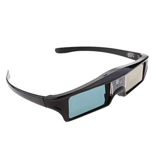 Jili Online DLP Link 3D Glasses, Ultra-Clear HD 144 Hz 3D Active Rechargeable & lightweight Shutter Glasses for All 3D DLP Projectors-BenQ, Optoma, Dell, Mitsubishi etc by Jili Online