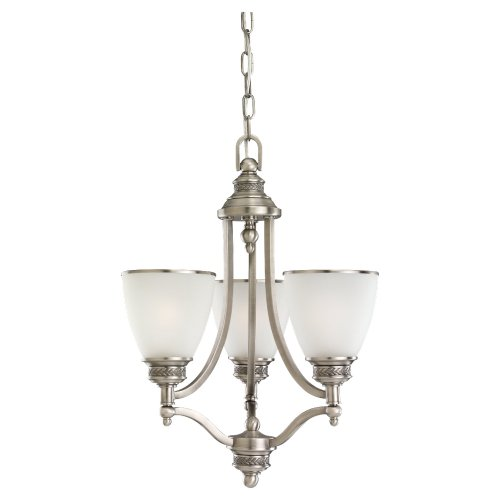 Sea Gull Lighting 31349-965 Three-Light Chandelier with Band, Antique Brushed Nickel Finish
