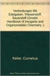 Verbindungen Mit Edelgasen Wasserstoff Sauerstoff Gmelin