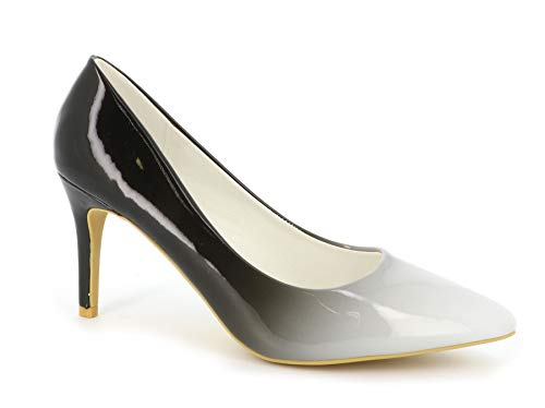 Escarpin-Femme-Vernis-Chaussure-Escarpin-Dgrades-Talon-Fin-Talon-Moyen-Sexy-Hauteur-7CM-ou-8CM-Multicolore-Chic-Tendance