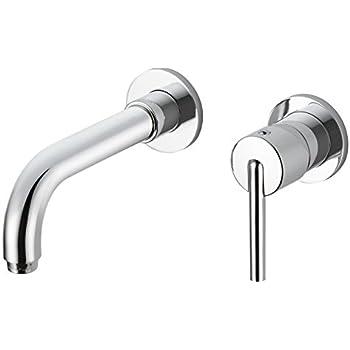 Delta Faucet T3559LF WL Trinsic Single Handle Wall Mount Bathroom Faucet  Trim, Chrome