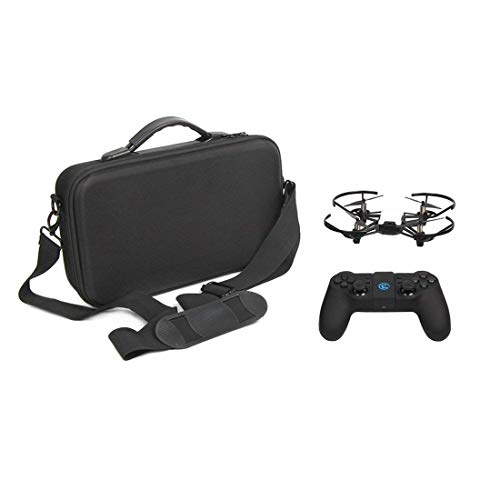 RCstyle Tello Carrying Case Portable Waterproof Shoulder Bag Compatible with DJI Ryze Tello Drone,Fits Extra Battey and Game Controller (Brown)