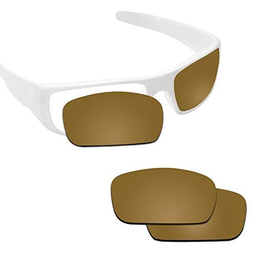 Fiskr Anti-saltwater Replacement Lenses for Oakley Crankshaft Sunglasses - Various Colors (Bronze Gold - Anti4s Mirror Polarized, 0) ()