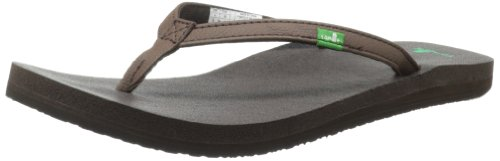 Sanuk Women's Yoga Joy Flip Flop,Brown,8 M US ()