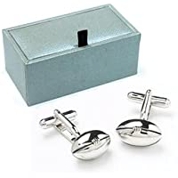 Novelty RUGBY BALL Cufflinks Gift Boxed