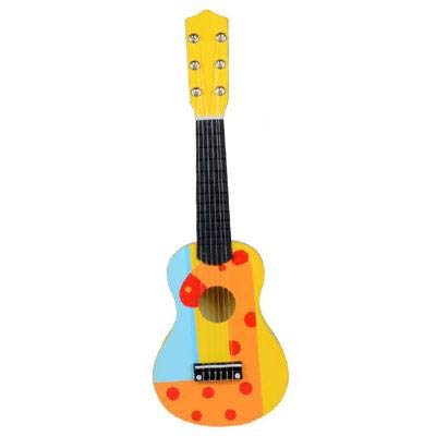 Baby Toys For Children 21 Inch 6 String 12 scale Wooden Guitar ukulele Musical Instruments Educational Toy For Children Gifts Orange Giraffe, instruments for children,kids wooden,brass, guitar - A551