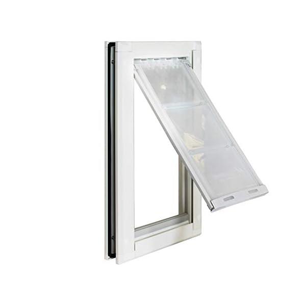 Endura Flap Pet Door Best Extra Insulated Energy Efficient Dog Door Small Medium Large XL Doggie and Cat Door in Black…