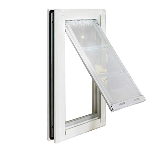 """Endura Flap Medium Door Mount - White Single Flap 8"""" x 15"""" pet Door"""
