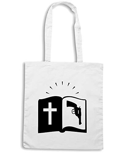 Shopper FUN0757 WITH BIBLE 85167 Bianca Borsa Shirt GUN Speed zIqEx