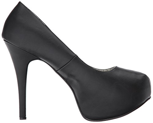 Teeze Pleaser Black Plateau Faux Label Scarpe Leather con Donna Blk 06w Pink x8r8FqwZE