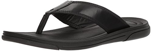 Kenneth Cole New York Men's Yard Sandal B Flat, Black, 10 M US
