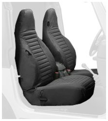 k Denim Front High Back Seat Cover Set for 1997-2002 Wrangler TJ (sold as pair) (Bestop Jeep Seats)