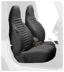 Bestop 29226 15 Black Denim Front High Back Seat Cover Set For 1997 2002