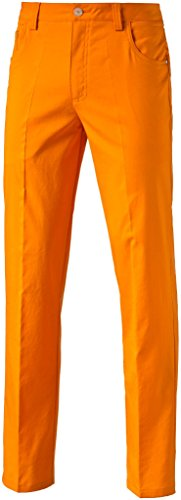 PUMA Golf Men's 6 Pocket Pants, Vibrant Orange, Size 32/32