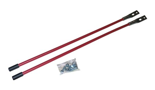 Western Red Blade Guide Sticks, Pair With Mounting Hardware]()
